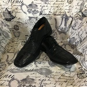 Stacy Adams Signature Leather Snakeskin Oxford 13M